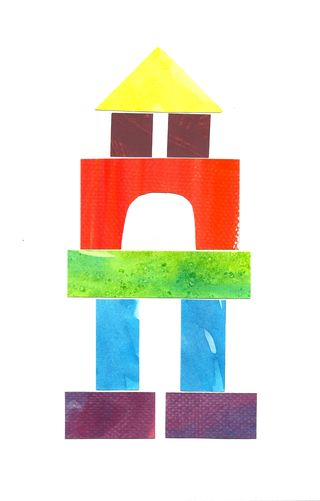 Building Blocks Of Art : Under construction watercolor building block art a tutorial